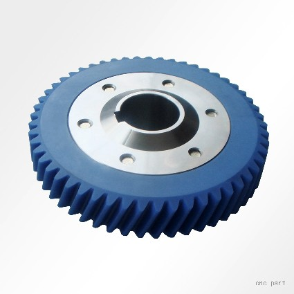 China CNC Machining Ring Gear Made of Hard Rubber for Polishe